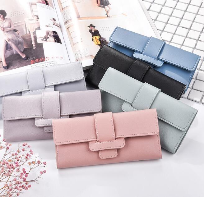 87a9fc14f27 Hengsheng 2018 New Ladies Long Wallet PU Womens Wallet Clip Fashion ...