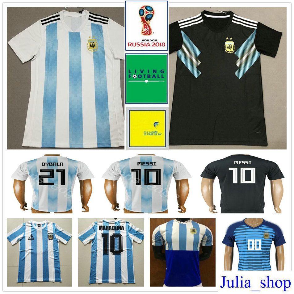 e2ea24849 2018 World Cup Argentina Soccer Jerseys 10 MESSI MARADONA KUN AGUERO ...