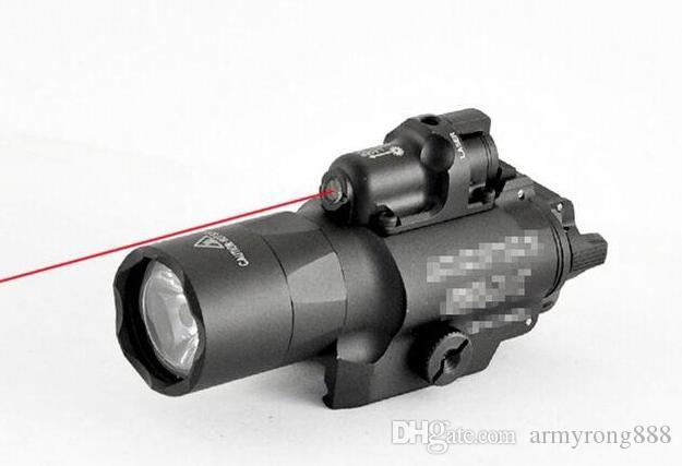 Hot Sale Marking X400U LED Flashlight Light Torch With Red Laser