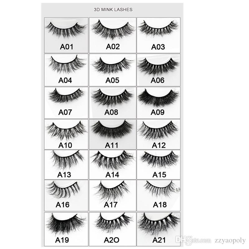58 styles 3D mink eyelashes Private Label 100% real mink fur Handmade False eyelash crossing lashes individual strip thick lash