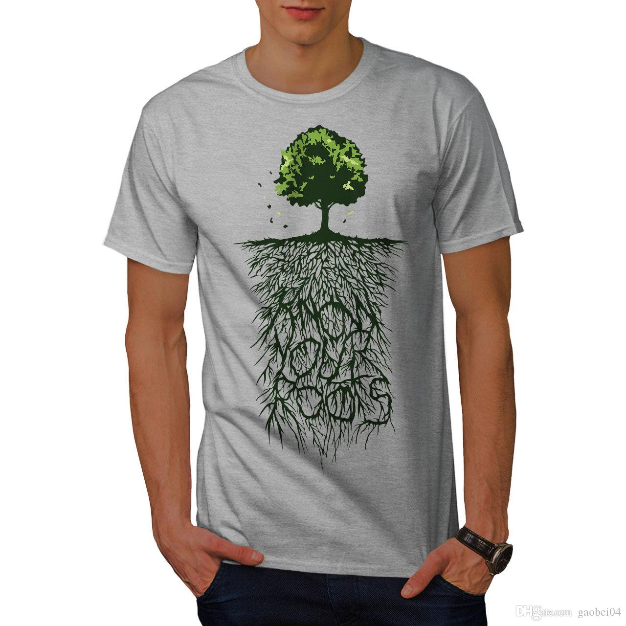 T Shirts With Tree Design | Earth Tree Roots Nature Mens T Shirt 0 Graphic Design Printed