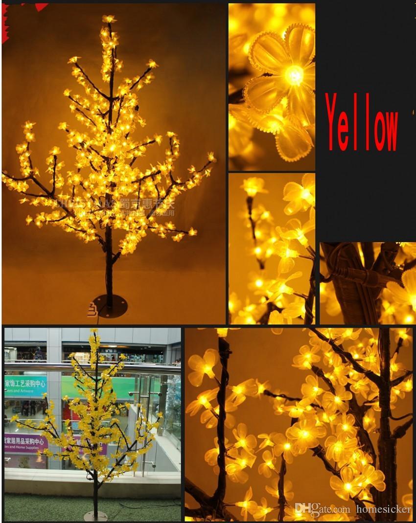 LED arbre de fleurs de cerisier lumière de Noël 1.5m / hauteur de LED ampoules 110 / 220VAC décoration de jardin féerique anti-pluie