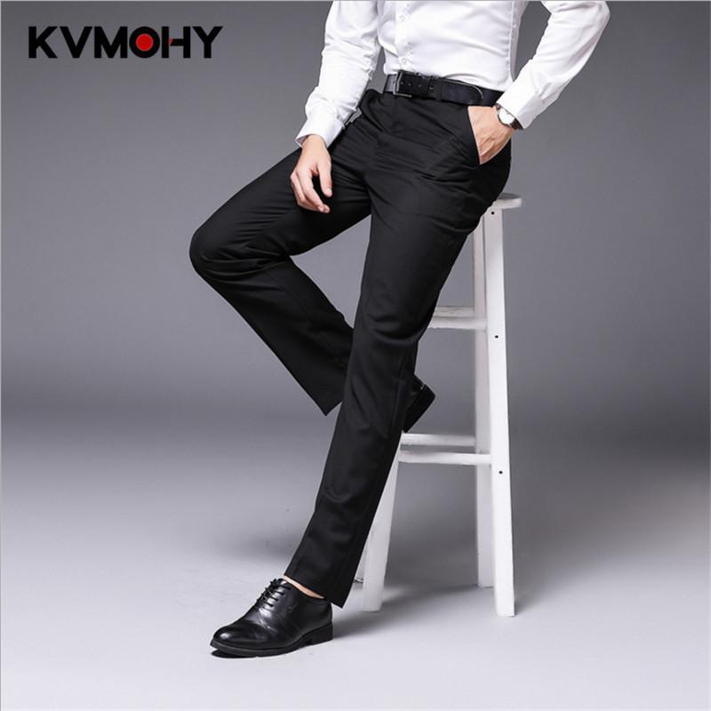 Compre Traje Pantalones Hombre Pantalon Hombre Pantalones Elegante Diseño  Mens Recto Negro Formal Negocios Masculino Vestido De Novia Pantalones  Casuales A ... 54bb0fa1de7a