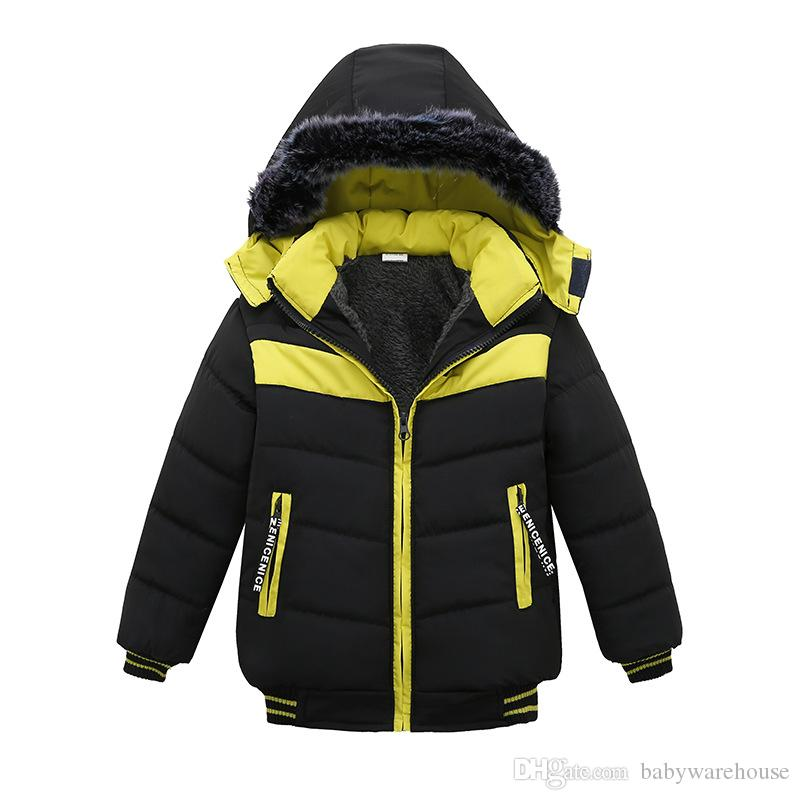 110dc487d8962 Hot Baby Boy Clothes Toddler Boys Winter Jacket 2018 New Kids Boys Hooded  Coats Children Warm Thick Jacket Boys Clothing Outerwear 12M 4T Kids Goose  Down ...