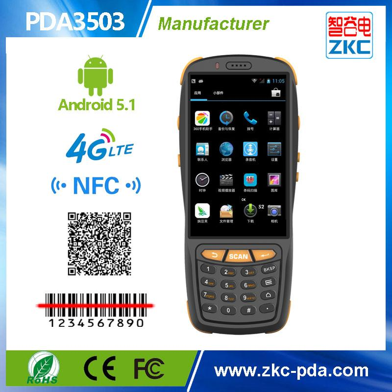 Android based handheld 2D Barcode Scanner PDA data collector ,touch screen  4G GPRS Smart pda with QR code Scanner PDA3503