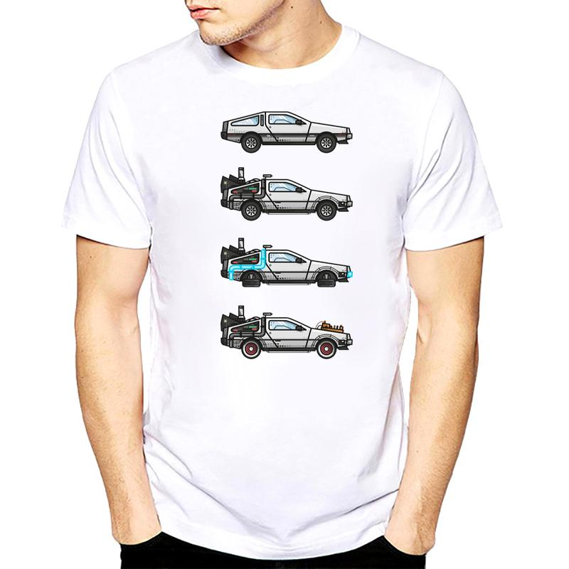 4fd578c4b865 Unique Harajuku Time Travel Design Men s Shirts Back To The Future Delorean  X 4 Funny Men T Shirt 2018 Women Top Tee Shirt Online with  28.54 Piece on  ...