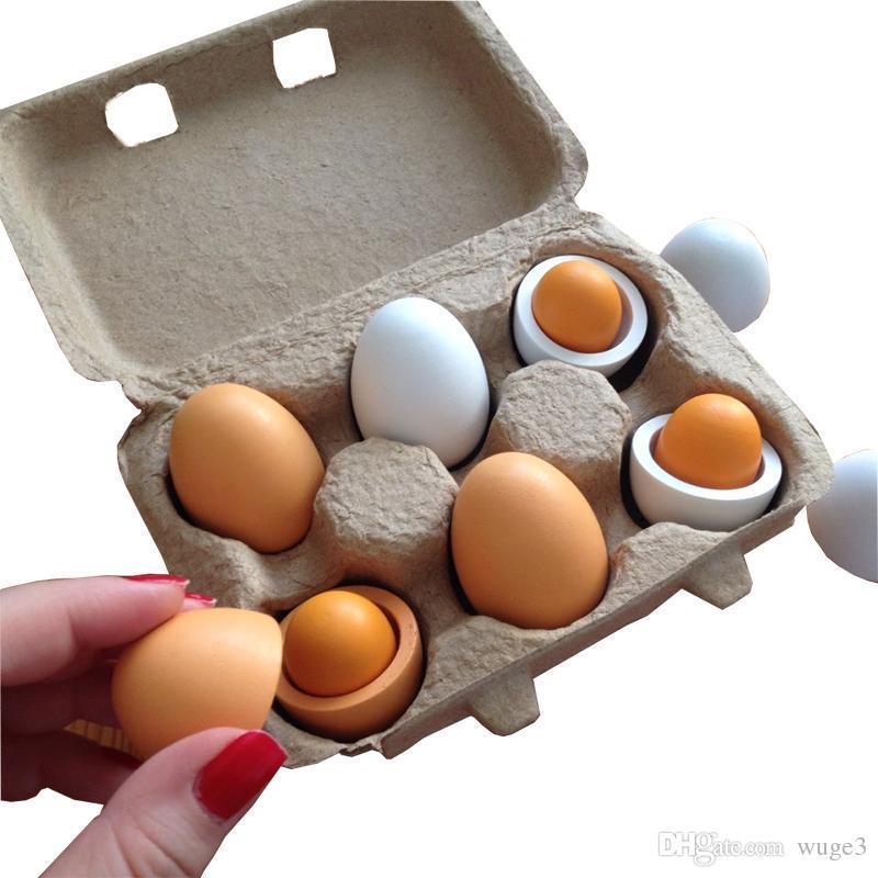 Holzeier Kind Spielzeug Lernspielzeug Hölzerne Eier Holzspielzeug Lebensmittel Spielzeug