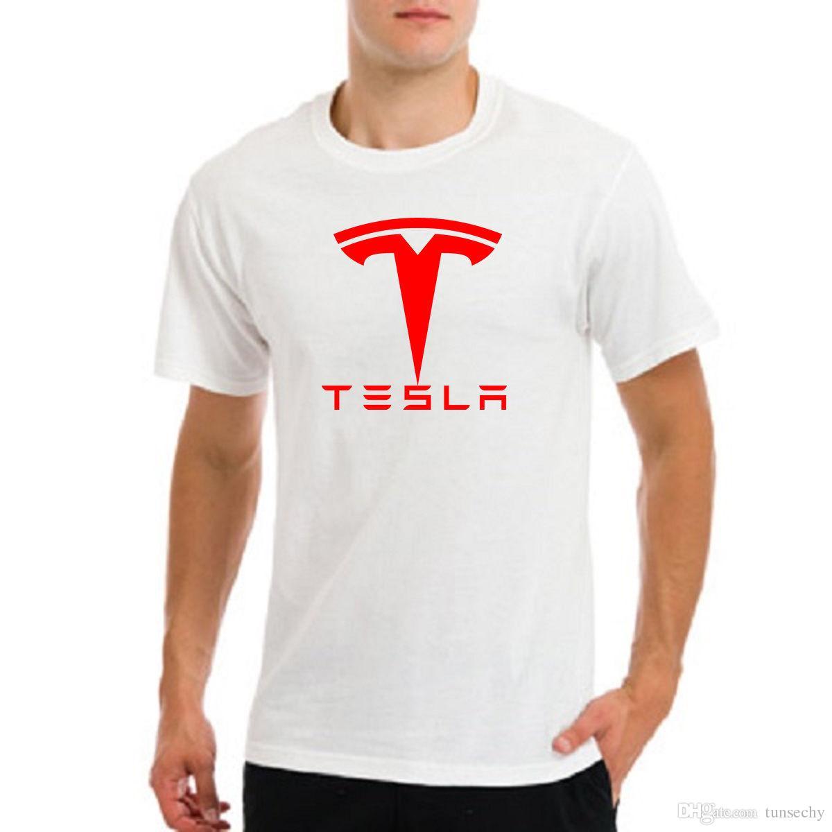 e5a31642a Tesla Motors Car Elon Musk Fan Moto Rally Electric Nikola Nerd Geek T Shirt  Cool Shirts Designs Pt Shirts From Customteestore, $11.17| DHgate.Com
