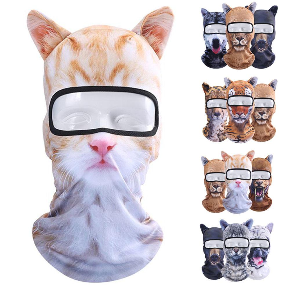 3D Animal Outdoor Full Face Mask Caps Riding Hood Multi Color UV Protection Hat Sports Motorcycle Masks NNA286