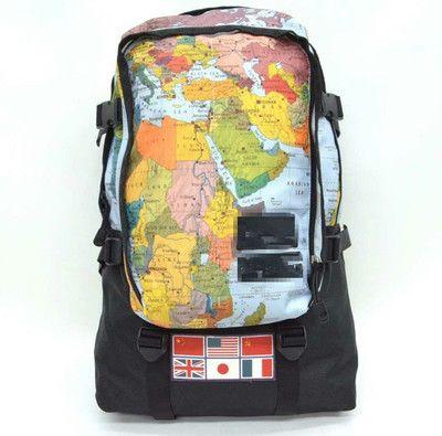 Travel Backpack Ss World Map Nation Flag Backpack School Bookbags