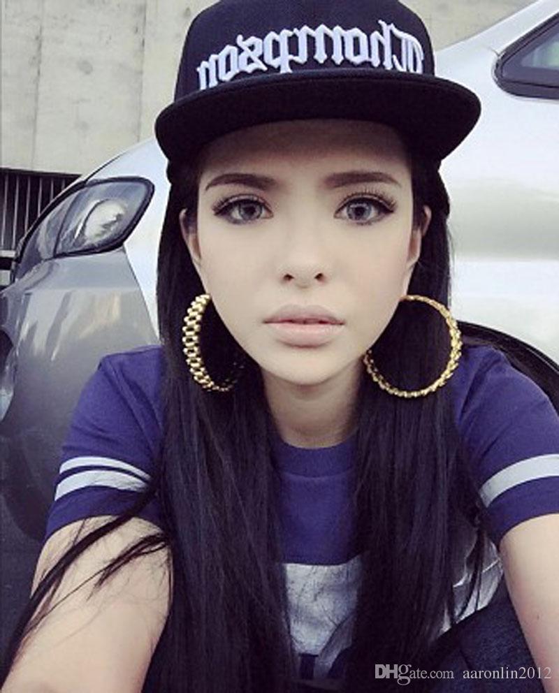 Rongho Tasarım Metal Daire Hoop küpe kadınlar için Punk takı Altın küpe brincos hip hop Vintage bijoux