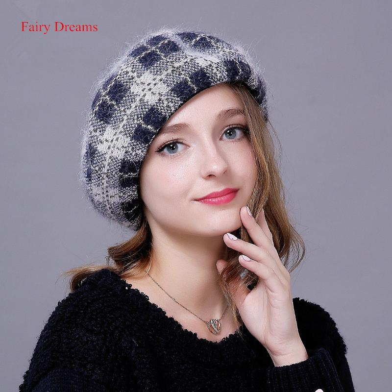 Compre Sonhos De Fadas De Tricô Boinas Outono Inverno Mulheres Chapéu Para  As Meninas Quente Marca De Alta Qualidade Da Manta Do Cabelo De Coelho  Vogue ... 708497195a0