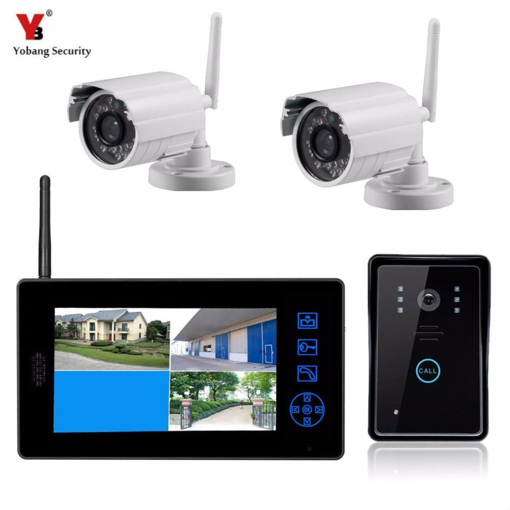 03dcf633b4d Yobang Security 2.4G CCTV Security System Video Record Monitor  Doorbell+0.3MP Digital Camera Home Doorphone 7Video Intercom Video Phone Door  Video Phone ...