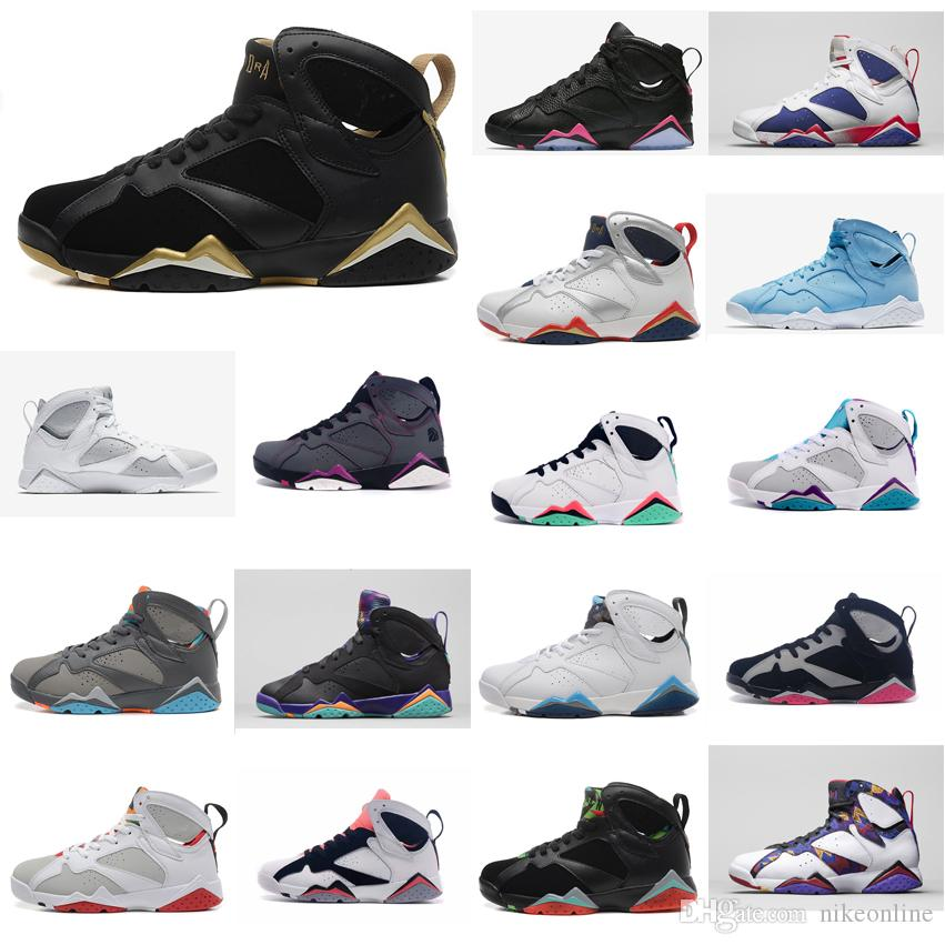 4ea8d663e40a Cheap Women Jumpman 7 VII Basketball Shoes 7s Olympic MVP Gold ...
