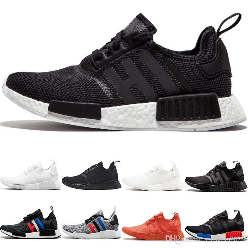 f15aec6ee80b8 2019 Wholesale NMD R1 Running Shoes OG Japan Triple Black White Solar Red  Oreo Men Women Designer Trainer Sport Sneaker Size 5 11 From Sneakers2020