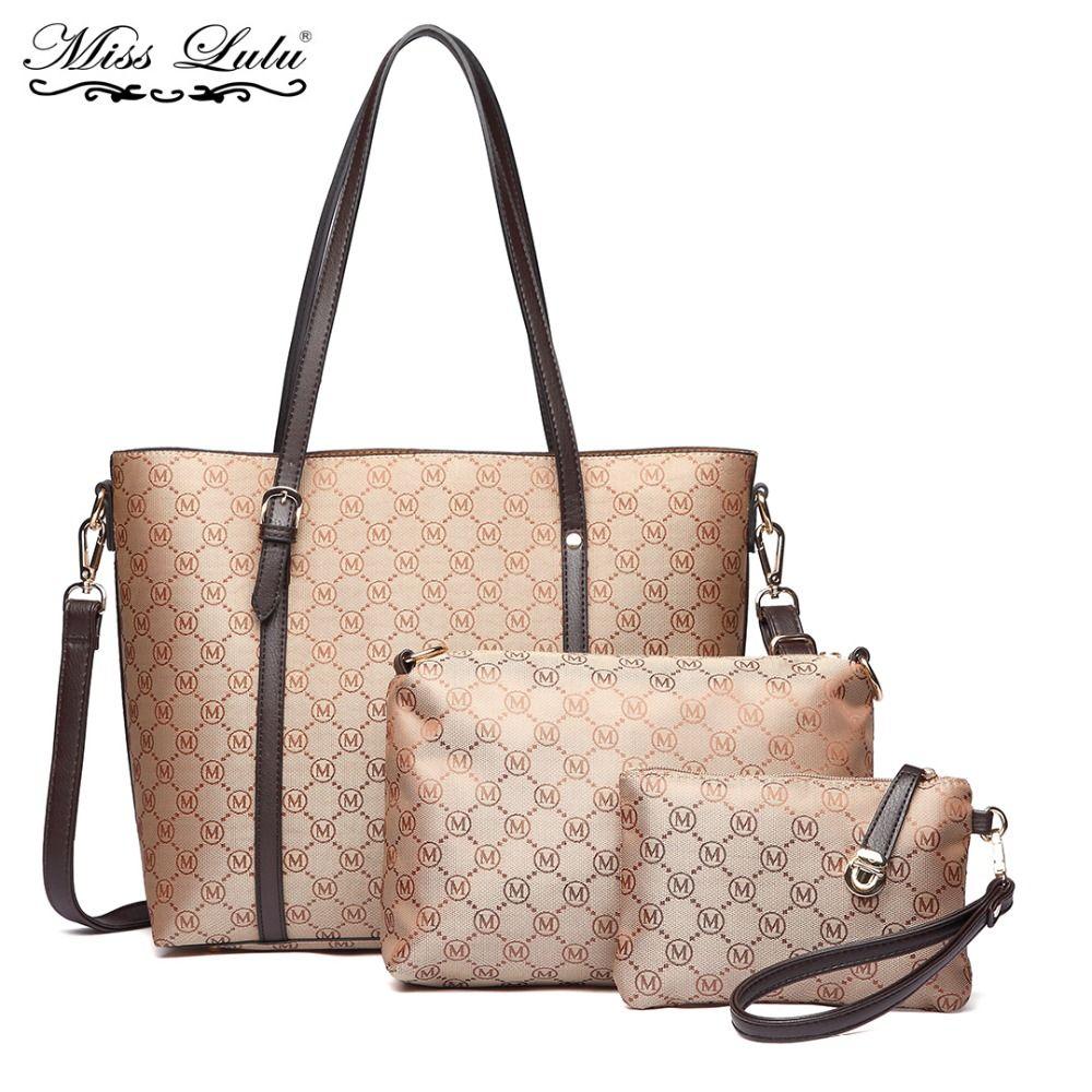 fc80b8daae Miss Lulu Women Designer Luxury Handbags Lady Shoulder Bag Cross Body Messenger  Bags Purse PU Leather Tote Brown LT1815 Bags For Men Satchels From  Windclot