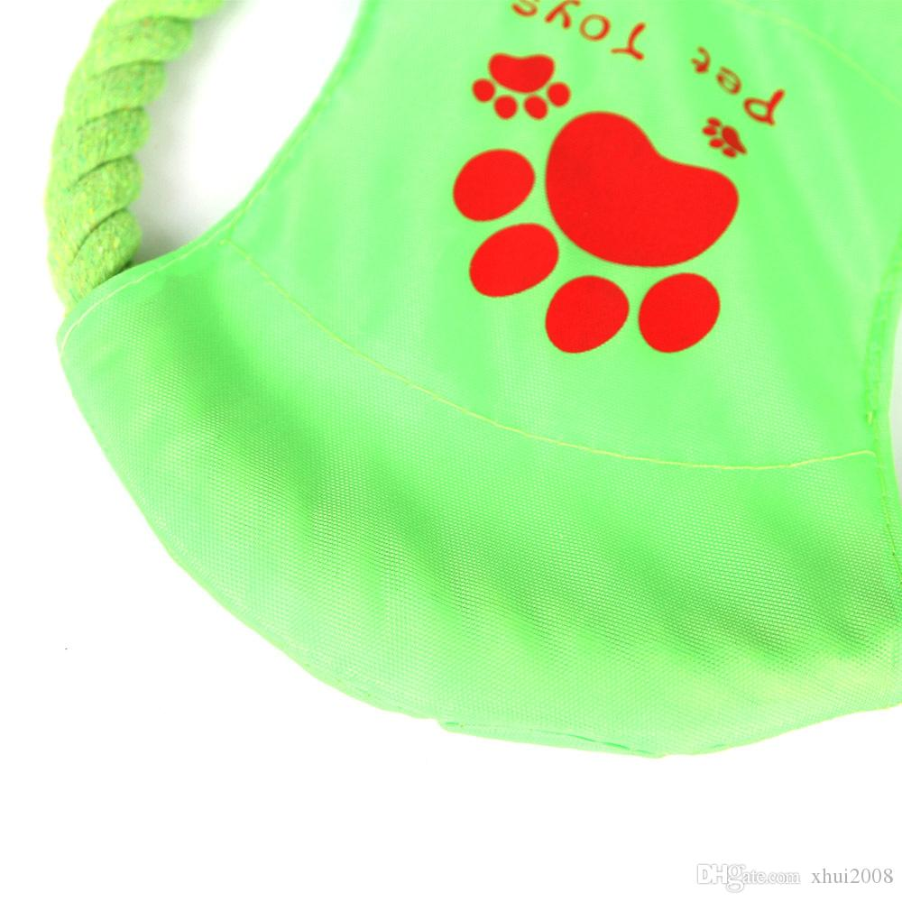Pet Dog Cotton Chew Toy Soft Flying Flexible Tooth Resistant Large Dog Pppy Pets Outdoor Training Toy for Pet Chew Molar Toy For Cat Dog