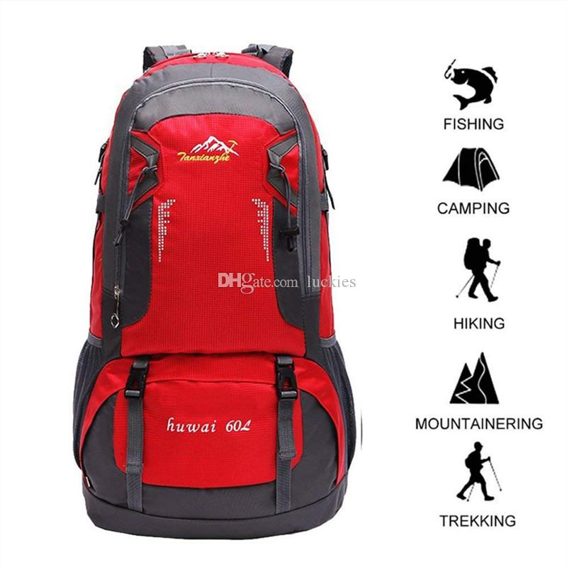 af83981fa2b5 Brand Fashion Designer Large 60L Waterproof Climbing Hiking Backpack Camping  Mountaineering Backpack Sport Outdoor Bike Bag Big Rucksacks Climbing Hiking  ...