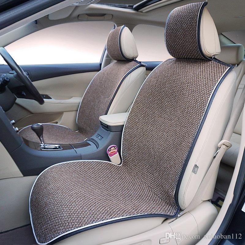 Linen Car Front Seat Universal Cover Season Parts Protection Pad Cushion