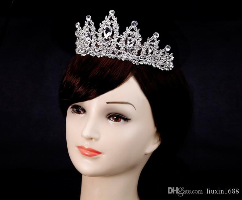 Hot Selling Baroque Bride Crown Tiara White Crystal Crown Princess Wedding  Accessories Online Bridal Accessories Red Hair Accessories For Weddings  From ... d389391fd9e2