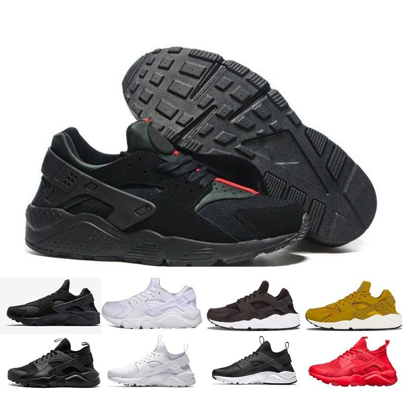 a19393c36268d 2018 Cheap Mens Air Huarache Shoes Black Casual Shoes Women Fashion Casual  Huaraches Ultra Classical Size 36 45 Sneakers Shoes Geox Shoes From ...
