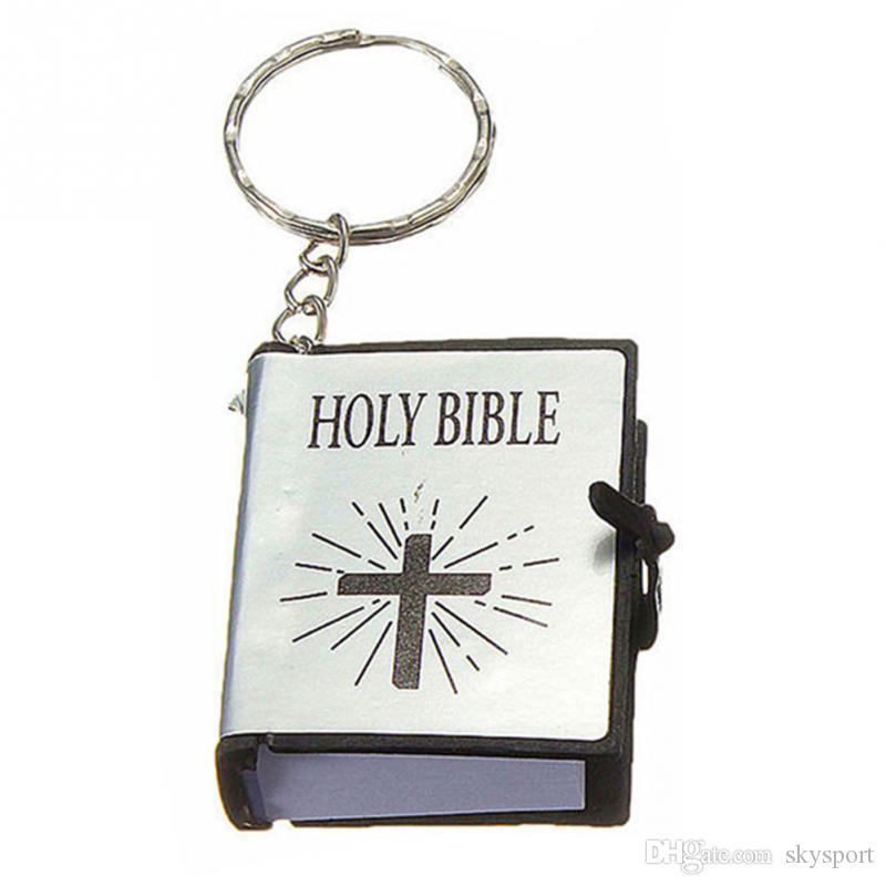 2018 gros porte-clés religieux BIBLE religieux chrétien Jésus livre porte-clés porte-clés porte-clés Chaveiro cadeau souvenir navire libre de Llaveros
