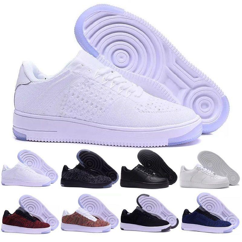 new photos 62746 bef2b Compre Nike Flyknit Air Force 1 One Shoes Air Huarache I Zapatillas Para  Hombre Mujer, Verde Blanco Negro Rosa Zapatillas De Oro Triple Huaraches 1  ...