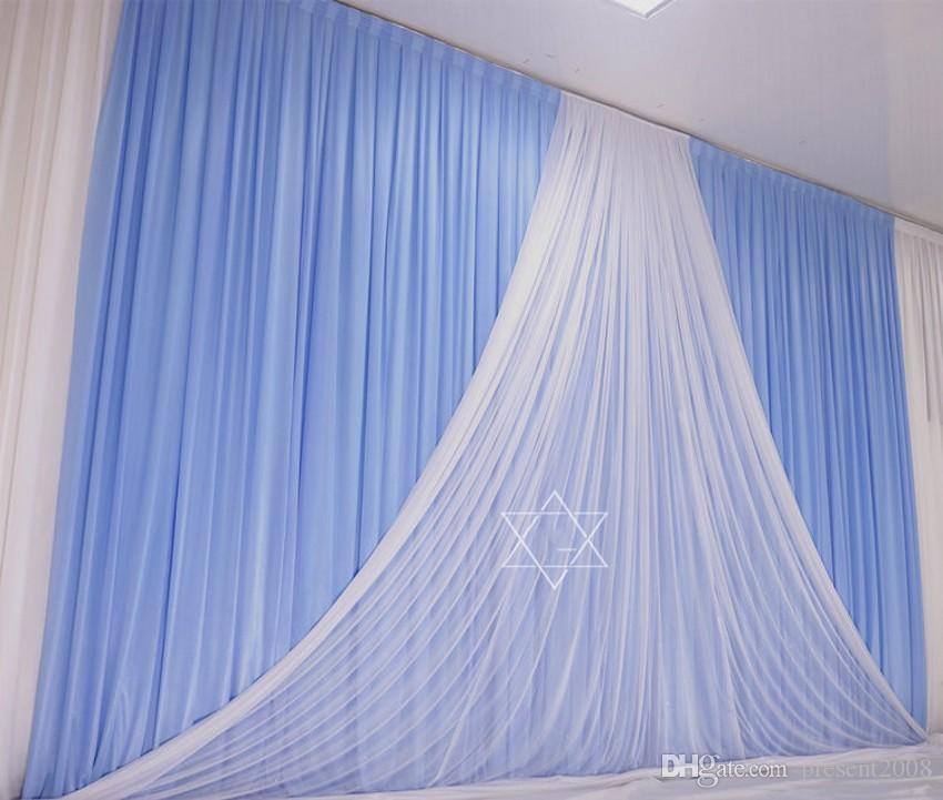 3M*6M Gold and White wedding backdrop stage curtain wedding supply stage decor