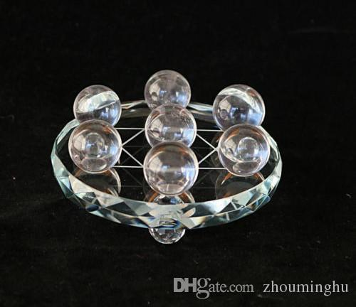 Seven Star Array Natural Star White Quartz Crystal Ball With Plate C366 natural stones and minerals
