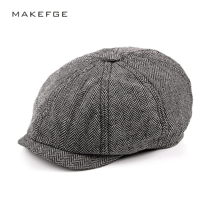 2b96bc84f7c 2019 New Tweed Gatsby Newsboy Cap Men Summer Golf Driving Flat Cabbie  Unisex Berets Peaky Blinders Hat Bone Vintage Male Detective From Duweiha