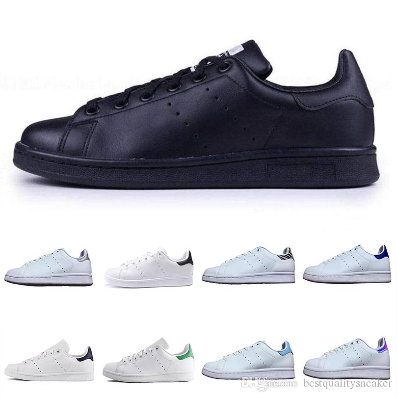 super popular fe37f e1a62 2019 Stan Smith Flat Running Shoes Primeknit Men Women Black White High  Quality Designer Sneaker Breathable Original Sports Chaussures 36 46 From  ...