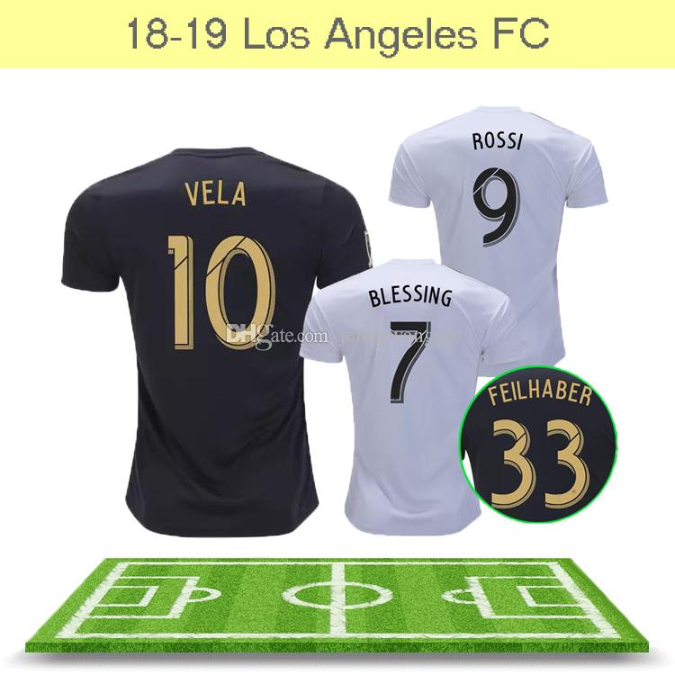 28832cc16 Maillot De Foot Hot Sale Thailand Quality New Lafc Carlos Vela Soccer  Jerseys 2018 2019 Gaber Rossi Ciman Zimmerman Home Away Football Shirt UK  2019 From ...