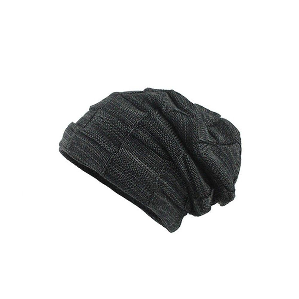 f7bfa6128f9 Men s Thicken Warm Knit Beanie Crochet Winter Knit Skull Slouchy Caps Hat  Skullies   Beanies Cheap Skullies   Beanies Men s Thicken Warm Knit Beanie  Crochet ...