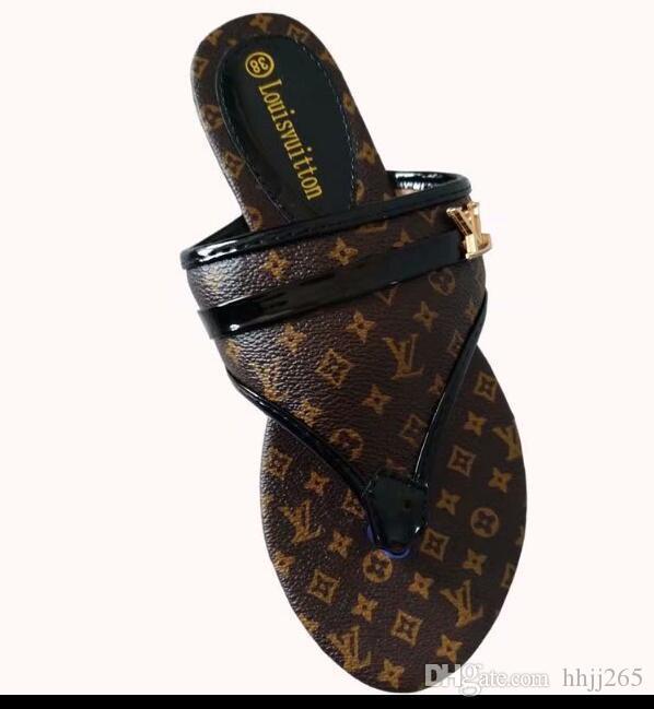 Plano De Marca Chanclas Las Sandalia Fondo Señoras Gama Alta Zapatos Cuero Único Moda Lujo Zapatillas La Mujeres USzVGqpM