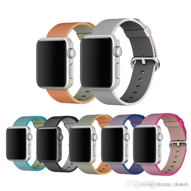 127a18b0811 ZLIMSN Watch Band Colorful Woven Nylon For Apple Watch Fabric Like Feel Wrist  Strap With Metal Adapter For Iwatch 38mm 42mm Sample Cheap Nato Watch Straps  ...