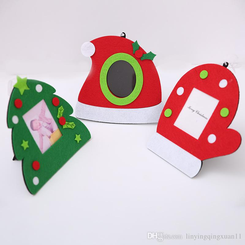Christmas Photo Frame Christmas Tree Ornaments Hats Gloves Hanging ...