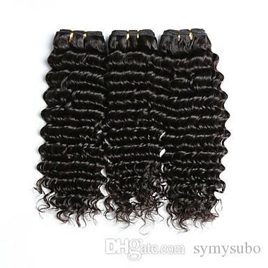 البرازيلي موجة عميقة الشعر 1 قطعة الشعر البشري نسج حزم غير ريمي لون الشعر الطبيعي يمكن أن تكون مختلطة شراء 10-30 بوصة حزم