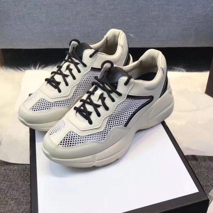 bacc83e28847 Acheter Respirant Femmes Ace En Cuir Sneakers Noir Blanc Rouge Bleu Femelle  Creepers Chaussures De Course Apollo Sneaker D été Sport Chaussures De  Marche De ...