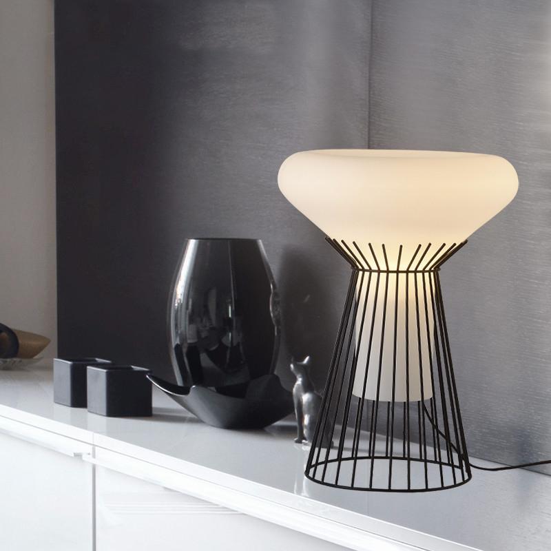 Lámpara de mesa de diseño italiano de moda luz LED tafellamp mesa de noche  lámpara de mesa lámparas para el dormitorio sala de estar comedor