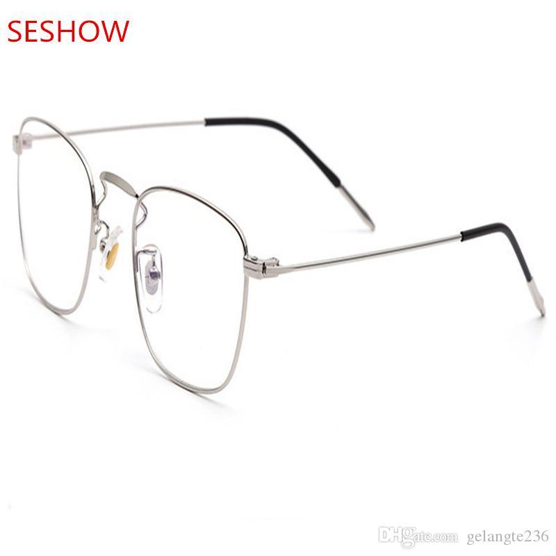 Korean Steel Wire Glasses Frame 2018 New Fashion Retro Square Point ...