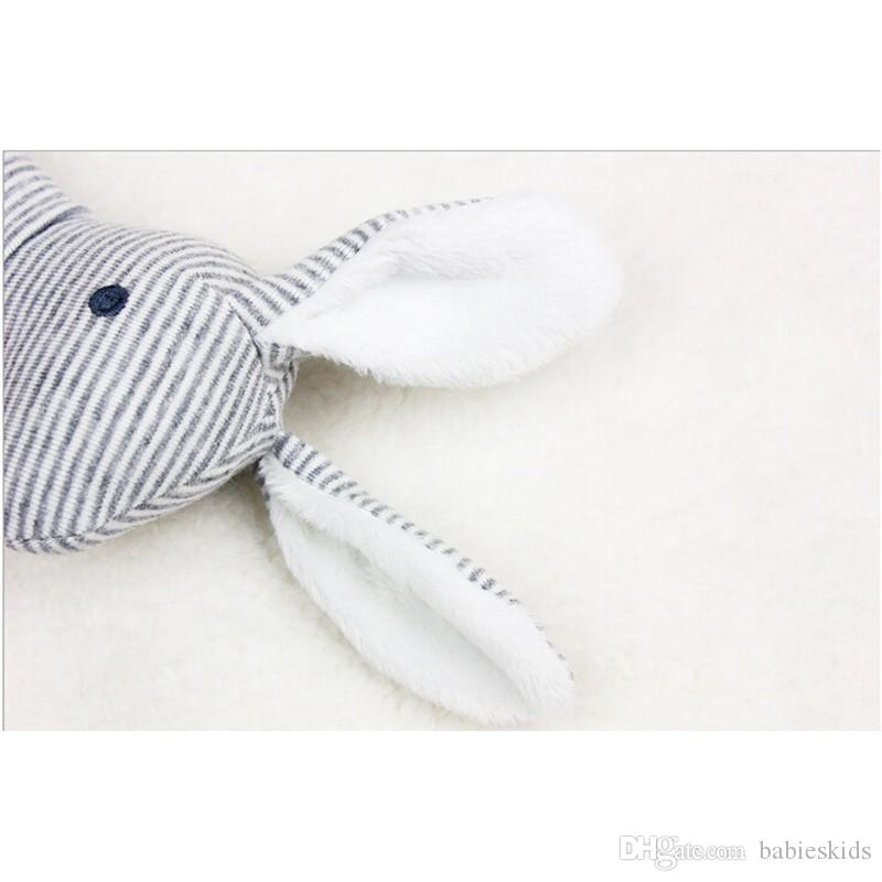 Baby Rattle Toys Animal Cute Rabbit Hand Bells Plush Toys Baby Gift With BB Sound Playing Gift Christmas Plush Doll Kids Rattle Toy