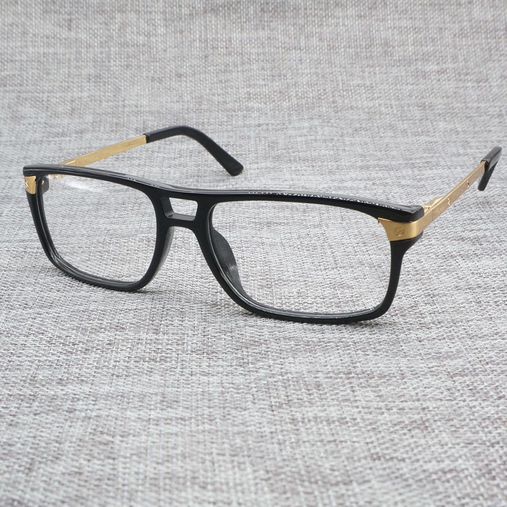 88107d9e4c Glasses Men Women Santos Vintage Eyeglasses Acetate Frames Fil ...
