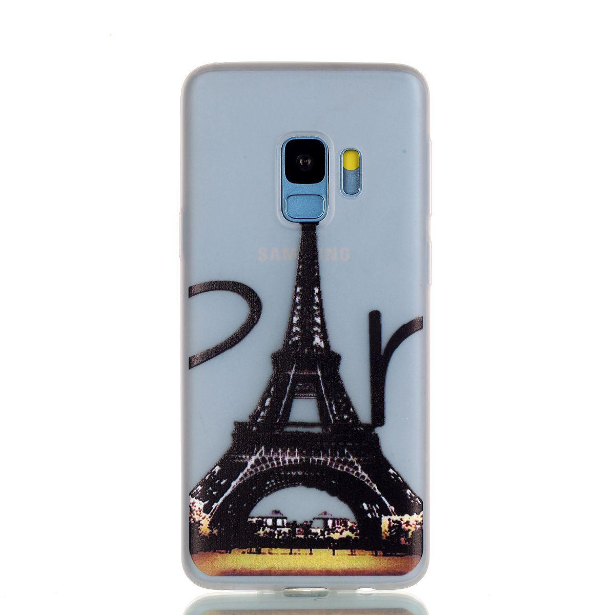Luminous Clear Soft TPU Case For Galaxy S9 Plus A8 J2 Pro 2018 Skull Glow In Dark Dreamcatcher Moon Eiffel Tower Doughnut Panda Cartoon Skin