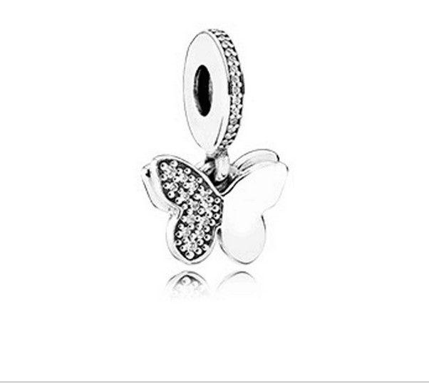 2018 wholesale butterfly pendants charm silver european charms beads 2018 wholesale butterfly pendants charm silver european charms beads fit pandora 925 sterling snake chain bracelets fashion diy jewelry from dazzleseattle aloadofball Gallery