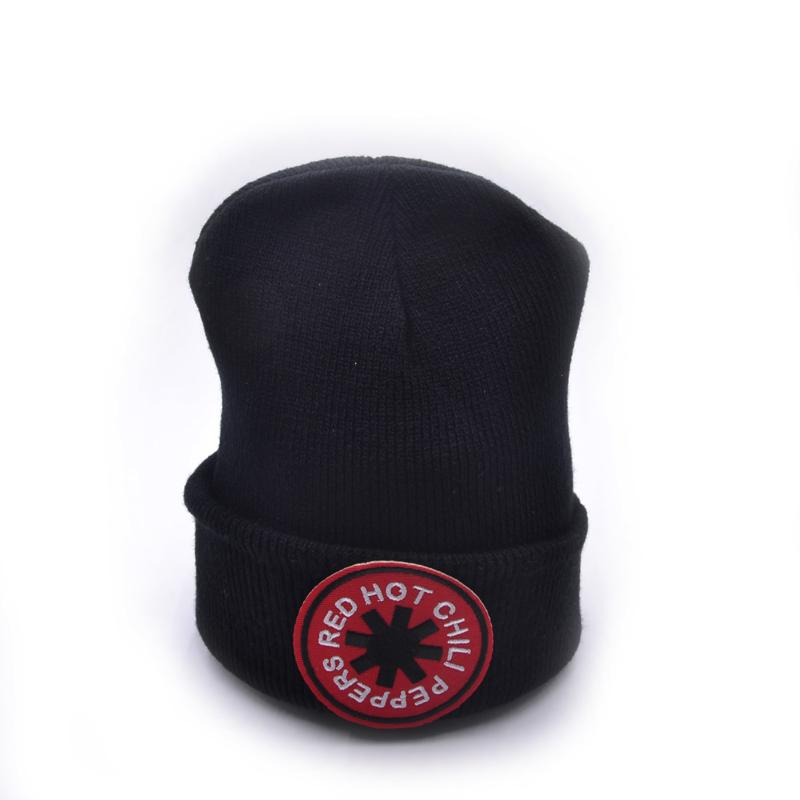 Red Hot Chili Peppers Logo Wool Beanies Knit Men s Winter Hats For ... d0f5259b262b