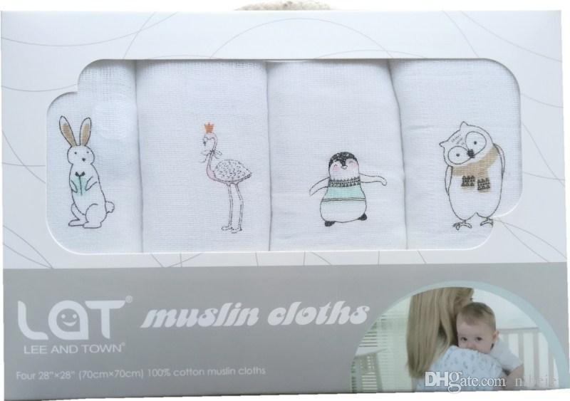 New design Medium size 70cm*70cm muslin blanket use as baby or infant diaper baby nappy cloth