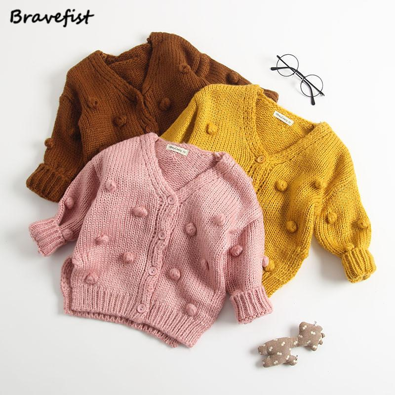 9a4a364b206c Cotton Baby Girls Boys Sweater Child Winter Ball In Hand Down ...