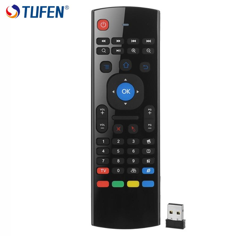TUFEN Airmouse MX3 Multimedia Remote Control With Backlight USB Receiver Mini Keyboard For Mini PC TV Box Android Multimeida