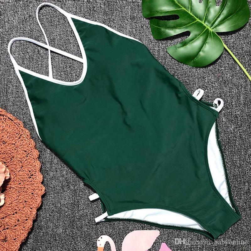 Sexy cinghie senza schienale perizoma Costume da bagno donna Costume intero bikini Costumi da bagno Maillot De Bain Femme SO0500