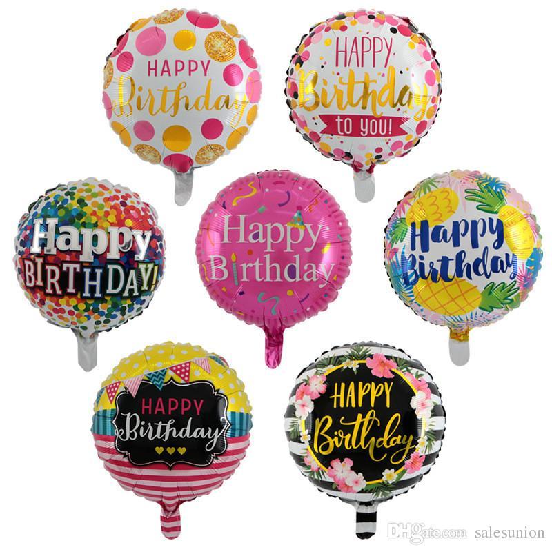 Grosshandel 18 Zoll Aufblasbare Blase Geburtstag Folie Ballons Fur